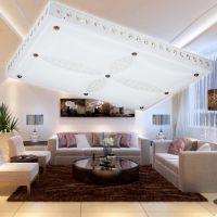 现货批发中式长方形LED亚克力吸顶灯别墅家居工程灯具灯饰带遥控