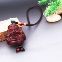 印度小叶紫檀木雕车挂财神把玩件文玩小摆件吉祥礼品一件代发