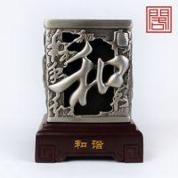 臻礼阁 碳雕炭雕和谐笔筒 工艺品 商务笔筒摆件创意 中秋节礼品