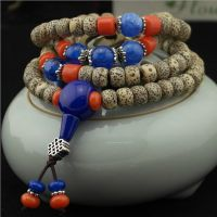 藏式高密天然星月菩提正月手链 佛珠手串桶型男女款文玩工艺品