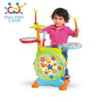 汇乐悦动爵士鼓大号儿童架子鼓玩具 拍拍鼓 带麦克风 音乐玩具
