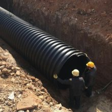 HDPE钢带增强波纹管,城镇市政道路改造专用排污管
