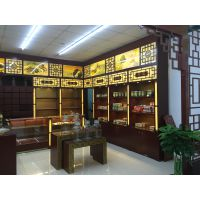 上海厂家专业设计 生产 安装国药中药房参茸柜 精品海参柜台 中医馆保健品虫草柜