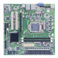 POS主板,H61芯片组、10 COM、8USB、1 PCI-E、2PCI,2个千兆网口