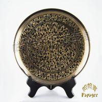 2014什么工艺品畅销 印巴铜雕挂盘 巴基斯坦纯手工艺 BH033