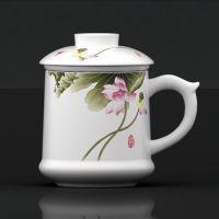 成都市陶瓷寿杯定做 陶瓷杯青花瓷办公杯批发定制