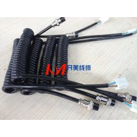 开美线缆 汽车后备箱螺旋伸缩线弹簧线卷线 扬州专业生产加工定制