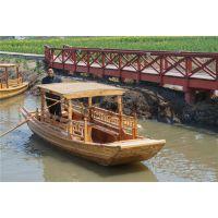 5.5m观光单蓬船 江南水乡观光游船 河道景观手划木船 厂家直销