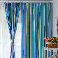 条纹 帆布 窗帘 简约现代风格 宜家 环保布料 连锁酒店专用
