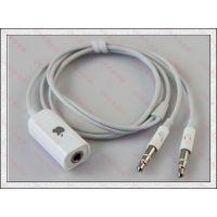 苹果二合一音频转接线 电脑音频/麦克风转换线 笔记本转带麦耳机