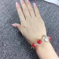 925纯银,天然水晶手链,手镯