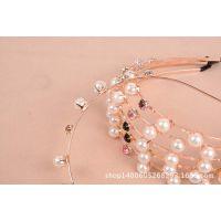 合金珍珠细头箍 韩国来自星星的你全智贤同款千颂伊发箍款