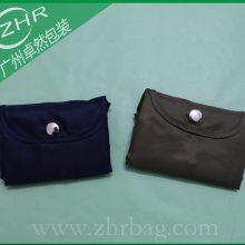 外贸折叠涤纶袋 210D涤纶收纳袋 涤纶背心袋 高档折叠尼龙环保袋