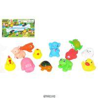 加工定制 原创动漫公仔搪胶玩具 广告促销品洗澡PVC动物 推广宣传