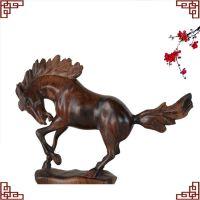 红木马雕件缅甸樱代木纯手工雕刻艺术品动物摆件办公家居特价