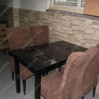 火烧炭烧实木火锅桌厂家供应 碳化木实用火锅桌椅
