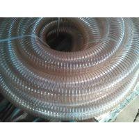 厂家直销32mm聚氨酯钢丝软管 pu耐磨钢丝螺旋管 壁厚0.6mm