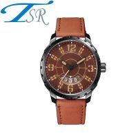速卖通热销手表创意酷炫石英表怀旧真皮男士手表