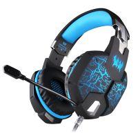 因卓 G1100头戴式震动游戏耳机电脑游戏耳麦语音带麦克风电竞专用