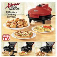 Xpress redi set go三合一烤肉机面包机披萨机多功能煎饼机