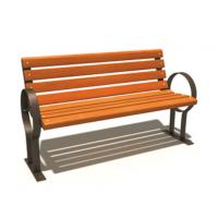 湖南郴州户外公园方贸园林可来图定做铁艺实木休闲长椅