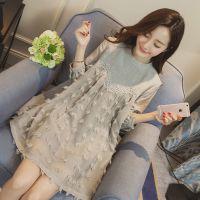 秋季韩版孕妇装长袖打底衫连衣裙中长款娃娃裙子大码宽松