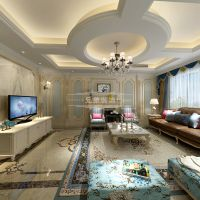 重庆龙湖两江新宸装修案例,兄弟装饰洋房户型法式风格装修效果