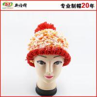 2015秋冬季帽子 女 欧美皮草针织帽毛线帽女亲子大毛球毛线帽加厚