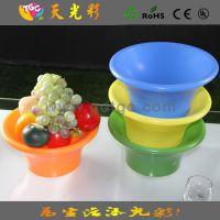 酒店KTV专用 圆形大果盘 塑料水果盘 家居必备 干果水果盘子碟子