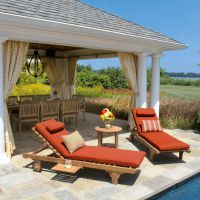 户外实木家具批发价格 沙滩椅 沙滩床定制厂家 灏雅户外家具创意定制工厂