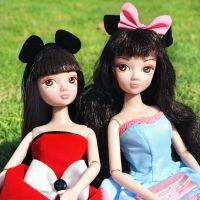 正版迪士尼可儿娃娃正品 米奇米妮衣服套装礼盒芭比娃娃女孩玩具