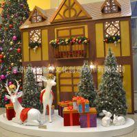 圣诞节美陈装饰布置 商业活动 大型商场吊件 空间美陈布置装饰