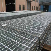 热镀锌钢格板 防滑齿形钢格栅板 平面型镀锌钢格板厂