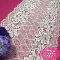 玛域仕厂家直销 蕾丝锦氨弹力花边 弹性蕾丝婚纱 服装辅料批发
