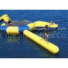 Commercial Inflatable Water Toys , Rave Sports Aqua Jump With Trampoline / Log Blob
