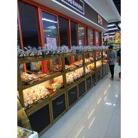 杭州展柜厂专业加工定制惠利展柜实木HL039组装超市面包货架、糕点架