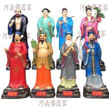 河南佛道家供应八仙神像1.8米 曹国舅 吕洞滨 荷仙子 佛像批发