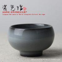 龙泉青瓷茶具陶瓷茶杯铁胎纯手工普洱茶碗哥窑个人品茗杯茶盏茶碗