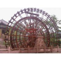 重庆哪里有专业制作防腐木水车、风车、专业户外安装的
