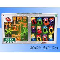 儿童节小玩具回力车 套装路标卡通赛车 批发迷你玩具9088-24B