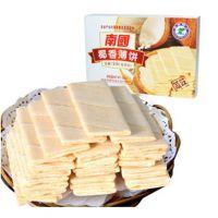 特价海南特产正品南国椰香薄饼160g咸味 南国食品 美味零食椰子饼