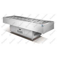 牛太郎自助烧烤店加盟 不锈钢点菜柜 火锅店冷藏点菜柜