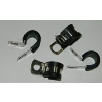福莱通EPDM橡胶减震不锈钢管夹 R型金属软管管卡 金属管夹批发