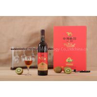 jinzhuxia kiwi fruit wine with red label 750ml 12%ovl with gift packing 2 bottles one bag