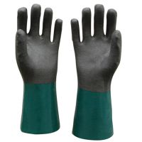 双色浸胶手套 PVC防油手套 磨砂处理柔软舒适耐磨防滑防酸碱 山东顺兴厂家