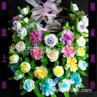新款热销花环 泡沫花环 旅游头饰 发饰 泡沫玫瑰花和花心菊组成