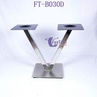 工厂直销上档次酒店餐厅桌子新款V型不锈钢桌架 餐厅不锈钢桌脚