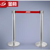 供应金柯不锈钢一米线lg-020b银行排队栏 拉丝隔离栏生产商