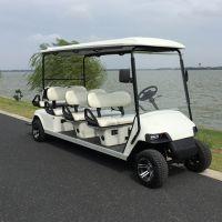 锡牛6~8座新款旅游观光车 四轮公园代步电动车 看房电瓶车 运行成本低