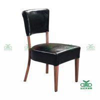 运达来餐厅家具定做 高档酒店布艺椅 黑色餐馆椅 款式新颖独特